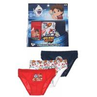 Lot de 3 Slips Garçon Yo-Kai Watch 2 à 8 ans