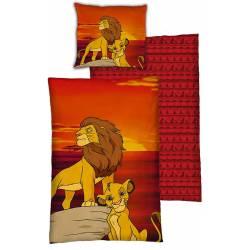 Housse de Couette Réversible Le Roi Lion 140 x 200 cm + Taie d'Oreiller 63 x 63 cm