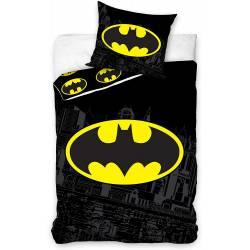 Housse de Couette Batman 140 x 200 cm + Taie d'Oreiller 63 x 63 cm