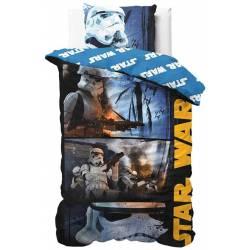 Housse de Couette Réversible Star Wars Rogue One 140 x 200 cm + Taie d'Oreiller 63 x 63 cm