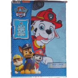 Paw Patrol Blue Duvet Cover 140 x 200 cm + Pillowcase 63 x 63 cm