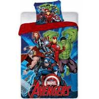 Housse de Couette Réversible Marvel Avengers 140 x 200 cm + Taie d'Oreiller 63 x 63 cm