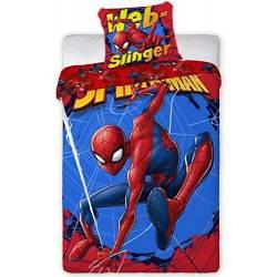 Housse de Couette Réversible Spiderman Rouge 140 x 200 cm + Taie d'Oreiller 63 x 63 cm