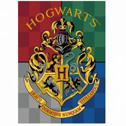 Plaid Couverture Polaire Harry Potter Hogwarts 140 x 100 cm