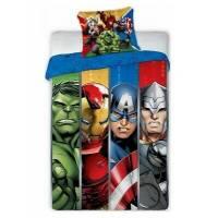 Housse de Couette Marvel Avengers 140 x 200 cm + Taie d'Oreiller 63 x 63 cm