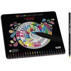 Conté Crayons de Couleur - Couleurs Assorties, Boîte Métallique Edition Limitée de 24