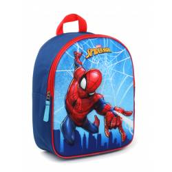 Sac à Dos Spider Man 3D Web Head 31 cm - Bleu