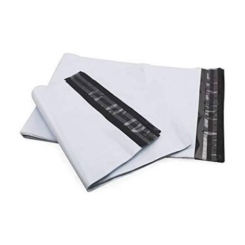 100 Enveloppes d'Expédition en Plastique Blanches Indéchirables 30 x 35 cm