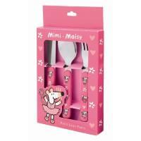 Set de 3 couverts Mimi la souris Rose