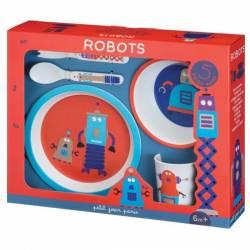 Coffret Vaisselle 5 Pièces Les Robots