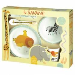 Petit Jour - Coffret Vaisselle 5 Pièces La Savane