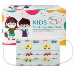 50 Einwegmasken für Kinder mit Drucken