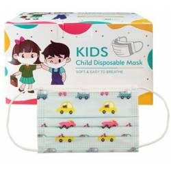 50 masques jetables pour enfants avec imprimés