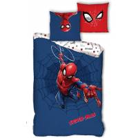 Housse de couette Spiderman 140 x 200 cm + taie - Rouge et Bleu