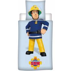 Sam Le Pompier Housse de Couette 140x200 cm + Taie 63x63 cm