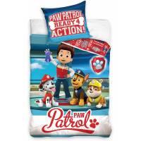 Parure de lit Pat Patrouille 100% Coton - Housse de Couette Réversible 140x200 cm + Taie d'oreiller 65x65 cm Ready for Action