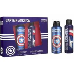 MARVEL CAPTAIN AMERICA Coffret Body Spray 200 ml + Gel douche 200 ml