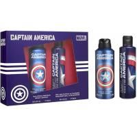 MARVEL CAPTAIN AMERICA Coffret Body Spray 200 ml + Gel douche 200 ml