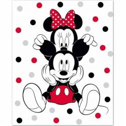 Plaid Polaire Disney Mickey et Minnie 140 x 100 cm