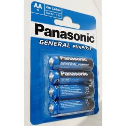 Piles Panasonic AA LR6 1.5V Zinc - Pack de 4