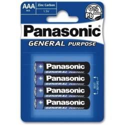 Piles Panasonic AAA LR3 1.5V Zinc - Pack de 4