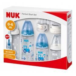 Coffret Biberons NUK First Choice+ Perfect Start Biberon/Sucette Genius Bleu