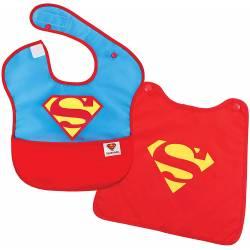 Super Bib with Removable Cape Superman