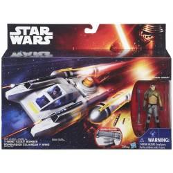 Figurine Star Wars Kanan Jarrus et Véhicule Y-Wing Scout Bomber