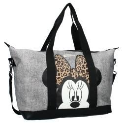 Sac Shopping Minnie Mouse Till You Drop Gris