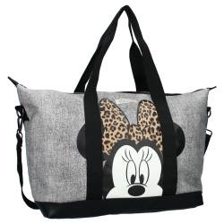 Sac Shopping Minnie Mouse Till You Drop Gris