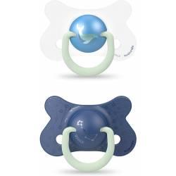 Suavinex Phospho Night & Day Pacifier 18 Mois + x2 Blue Whale