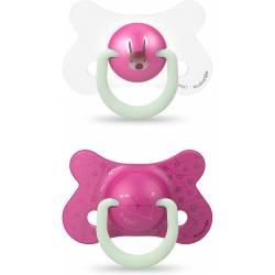 Suavinex Phospho Night & Day Pacifier 18 Mois + x2 Pink Rabbit