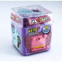 Funlockets, Boite à Secrets, jouet fille, escape game, surprises, bijoux, Modèle Aléatoire (Rose/Violet), 4 ans