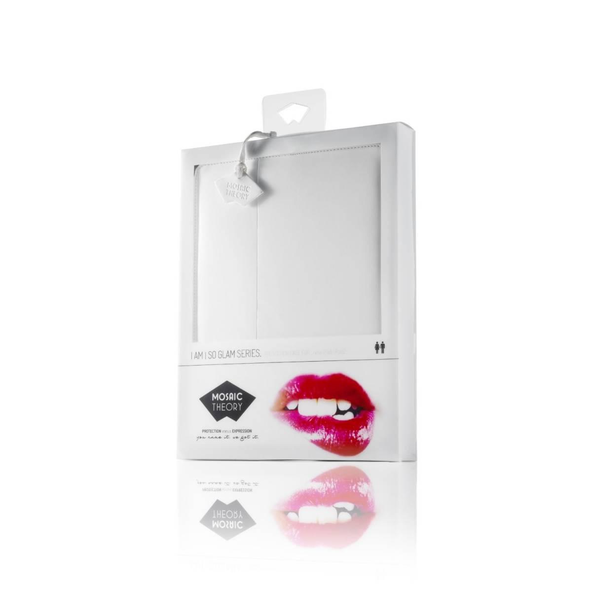 Mosaic Theory So Glam Serie Etui pour le nouvel iPad Blanc