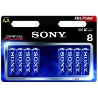 8 Piles Sony Alkaline AA Xtra Power