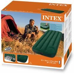 Matelas Gonflable Intex avec Gonfleur 1 Place Vert