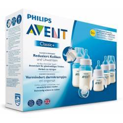 Philips Avent Kit Nouveau-né Classic+ : 2 biberons 125ml Classic+ et 2 biberons 260ml Classic+ et une sucette et un goupillon
