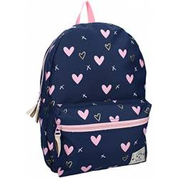 Mochila Milky Kiss Young, Wild & Free Pink Hearts