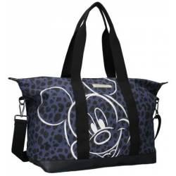 Sac Shopping Mickey Mouse Léopard Bleu