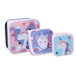Unicorn 3 in 1 Snack Box