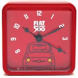 Fiat 500 Vintage Rode Mini Wekker