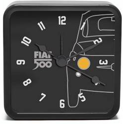 Fiat 500 Vintage Black Mini Alarm Clock