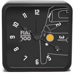 Fiat 500 Vintage Nero Mini Alarm Clock
