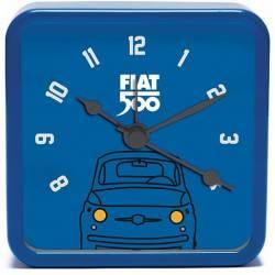 Fiat 500 Vintage Blue Mini Wekker