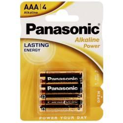 PANASONIC - Pile alcaline LR03 AAA 1,5V Bronze Blister de 4 piles