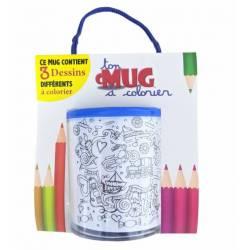 I love you dad drawing coloring mug