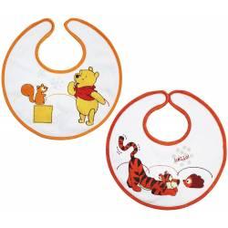Lot de Bavoirs Winnie l'Ourson Winnie et Tigrou Orange