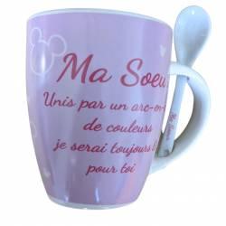 Mug Céramique Mickey Mouse Cadeau - Ma soeur