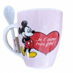 Mug Céramique Mickey Mouse Cadeau - Amitié Rouge
