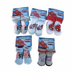 24 paires de chaussettes Spiderman 0 à 6 mois et 6 à 12 mois